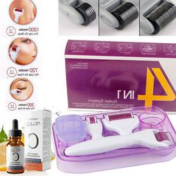 4in1 Derma Roller Set 0.5mm 1.0mm 1.5mm Titanium Micro Needl