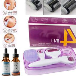4in1 Micro Needles DERMA ROLLER SET 0.5/1.0/1.5mm & Vitamin