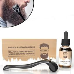 Beard Growth Kit - Titanium Derma Roller - Beard Growth Seru