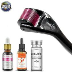 Derma Roller Micro needling Black Purple Titanium Nano Needl