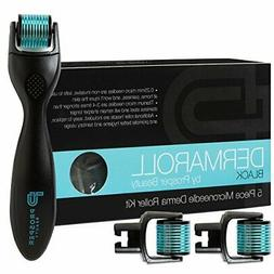 Derma Roller Microneedle 5 Piece Kit  Face Roller with 3 Re