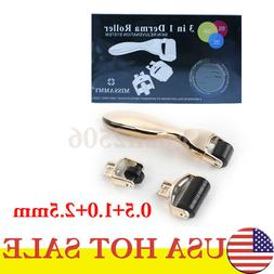 Hot Sale 3 in 1 Micro Needle Derma Roller Meso Roller 0.5+1.