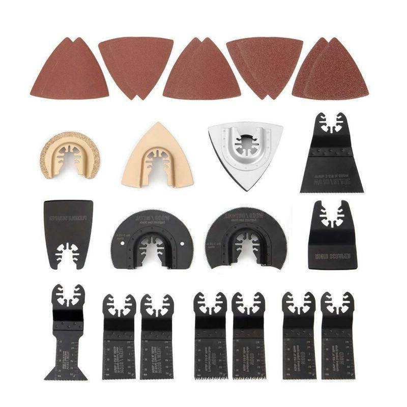 25 piece oscillating multitool accessories saw blades