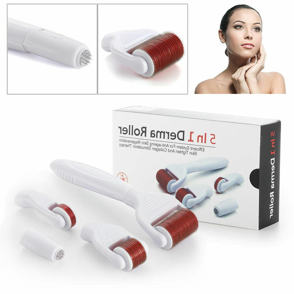 5 in 1 Derma Roller 0.5+1.5+2.0+3.0mm Needle Anit-Wrinkle Ac