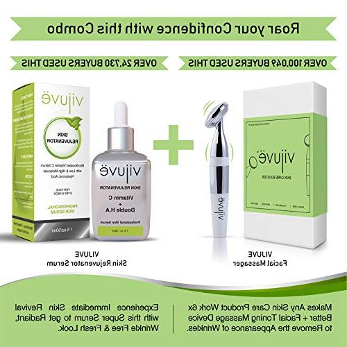 VIJUVE Aging Face Massager Wrinkles Appearance Removal Tightening | of Face Cream Serum | Wrinkle Skin & Facial Toning