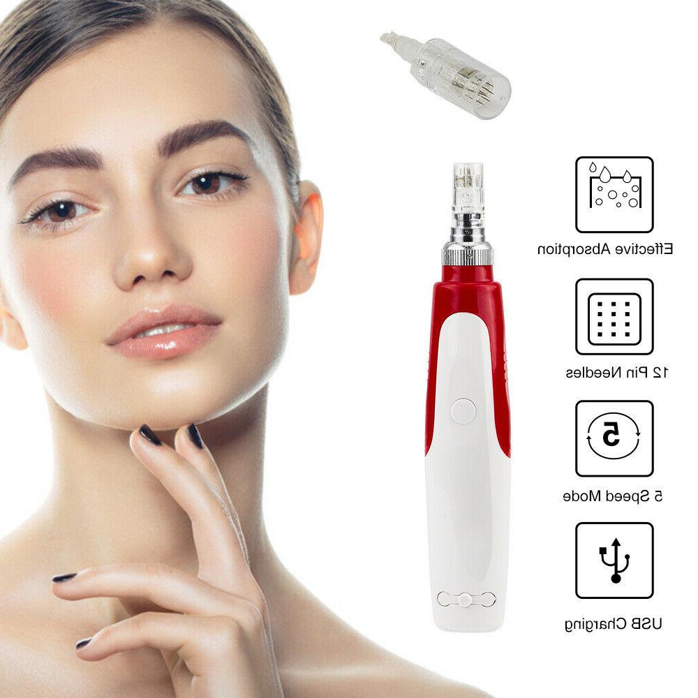 Auto Electric Derma Pen Micro Therapy Beauty
