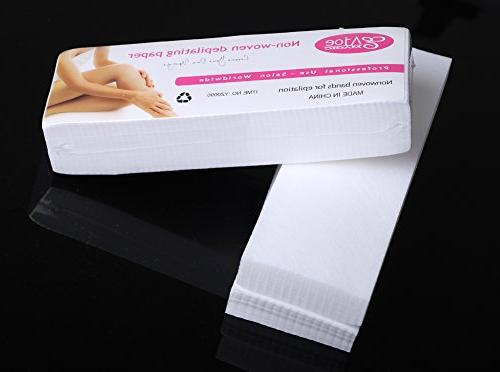 Bluezoo Depilatory Nonwoven Salon Spa Wax Strips