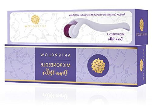 Derma Roller Afterglow - - Microneedling For Face - Titanium Needle Dermaroller at