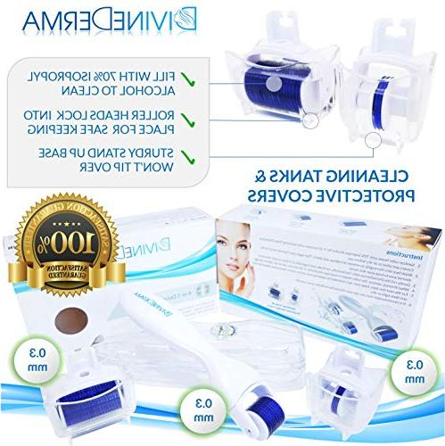 DERMA Titanium Microneedle Beauty Skin Set - Comes With 20 Instructional E-Book!
