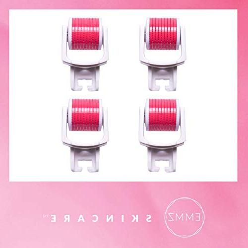 Derma Piece REFILL by EMMZ Replacement Roller Heads for Serum Absorption Tool Derma Microneedling