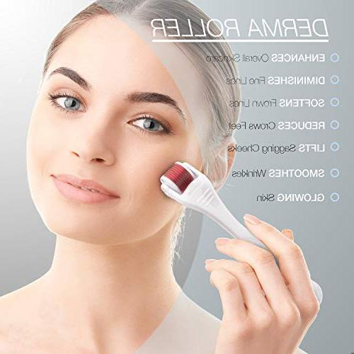 Derma Roller Cosmetic Instrument Body 0.5mm, 540 Micro Needle - Microdermabrasion Exfoliating