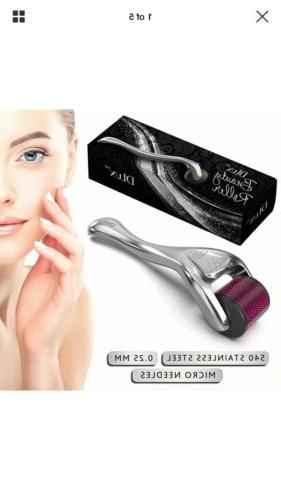 face micro needle derma exfoliating beauty roller