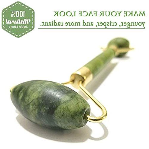 Jade Roller With Natural Anti Aging Jade Stone For Face Eye Massage Roller Jade Stone