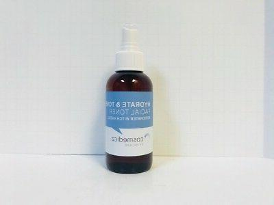 skincare hydrate and tone facial toner 4oz