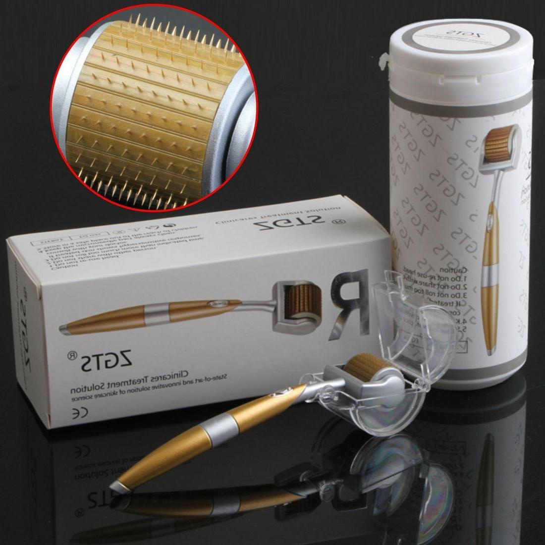 ZGTS Titanium Needle Therapy Derma Roller 1.0mm Skincare Acne