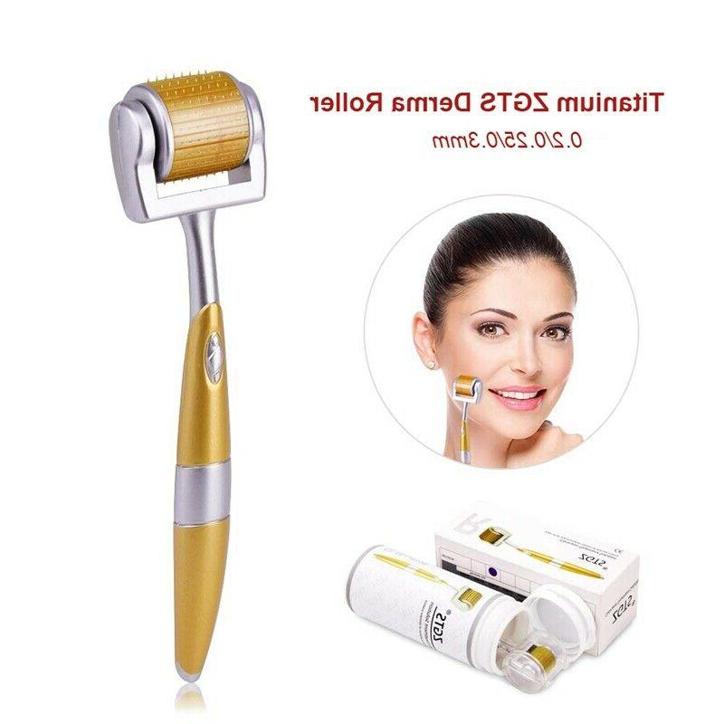 ZGTS Luxury Titanium Needle Roller For Acne Scar Anti-Aging