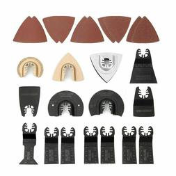 NEW 25-piece Oscillating Multitool Accessories Saw Blades Qu