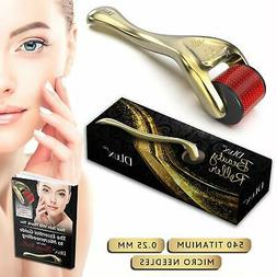 """Microneedle Derma Roller with Protective Kit and Ebook, """"Fir"""