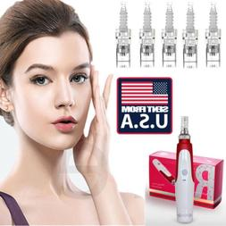 US Anti Aging Electric Derma Pen Stamp Auto Micro Needle Rol