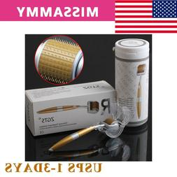 ZGTS Titanium 192 Pin Derma Roller 0.25-3mm Micro-Needle Mes